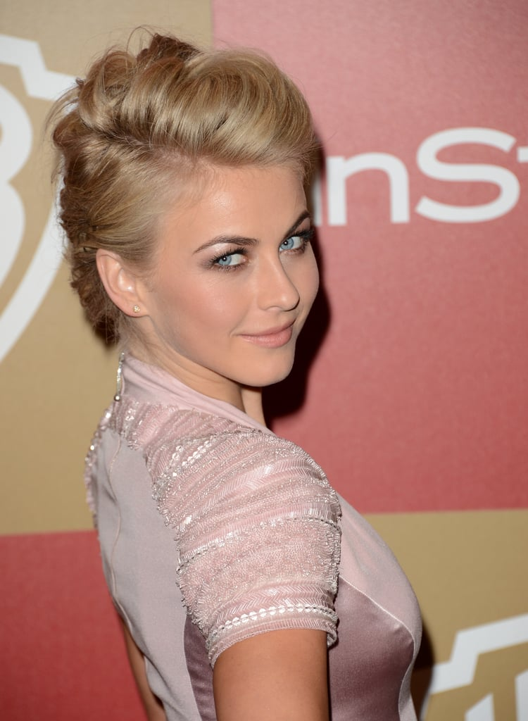 Julianne Hough wore a pastel pink gown.