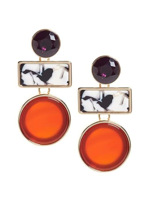 Red Agate Drop Earrings