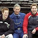 They bundled up during the royal family's Switzerland ski trip in March 2005.