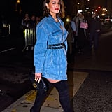 Ashley Graham Jean Jacket Outfit April 2019