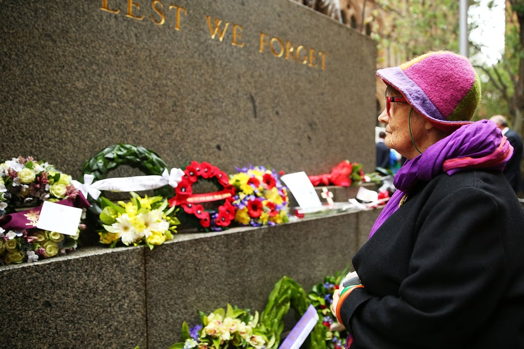 In Sydney, Australia, a woman paid tribute to veterans during a Remembrance Day service.