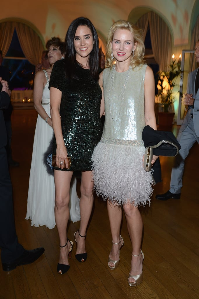 Jennifer Connelly and Naomi Watts showed off their festive attire.