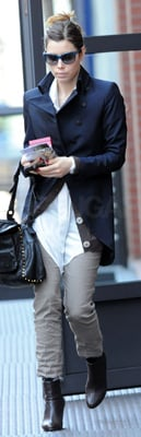 Jessica Biel Wears Rag & Bone Coat