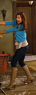 Lily Aldrin Wears Turquoise Cardigan on How I Met Your Mother