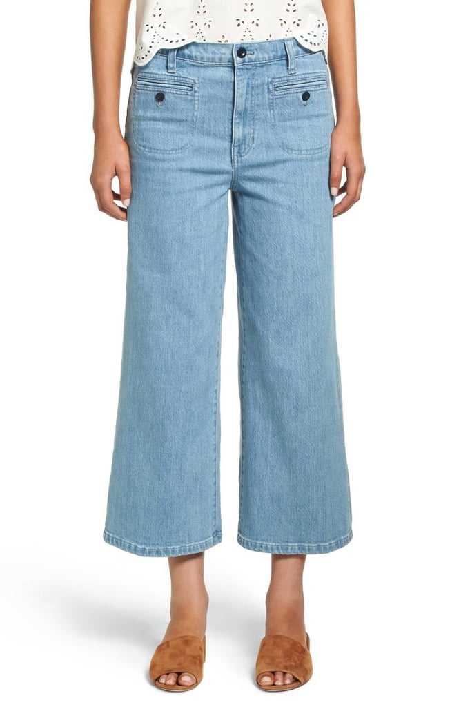Madewell Crop Wide Leg Jeans