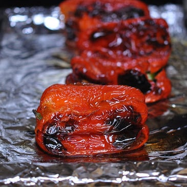 How to Roast Red Peppers