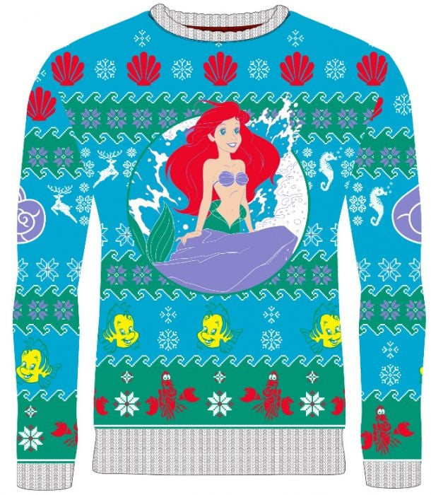The Little Mermaid: Part of Your Holidays Knitted Christmas Sweater