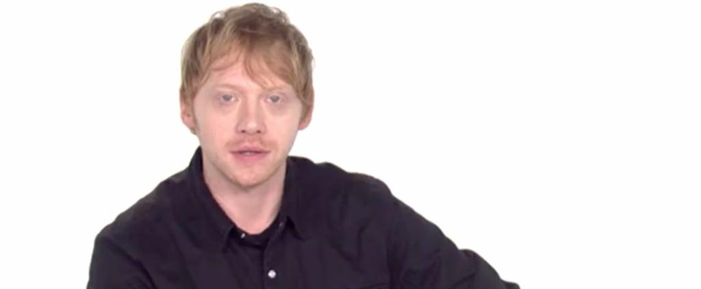 "Rupert Grint Reading Ed Sheeran's ""Shape of You"" Lyrics"