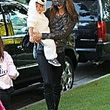 Alessandra Ambrosio and her tots gathered sweet treats in LA.