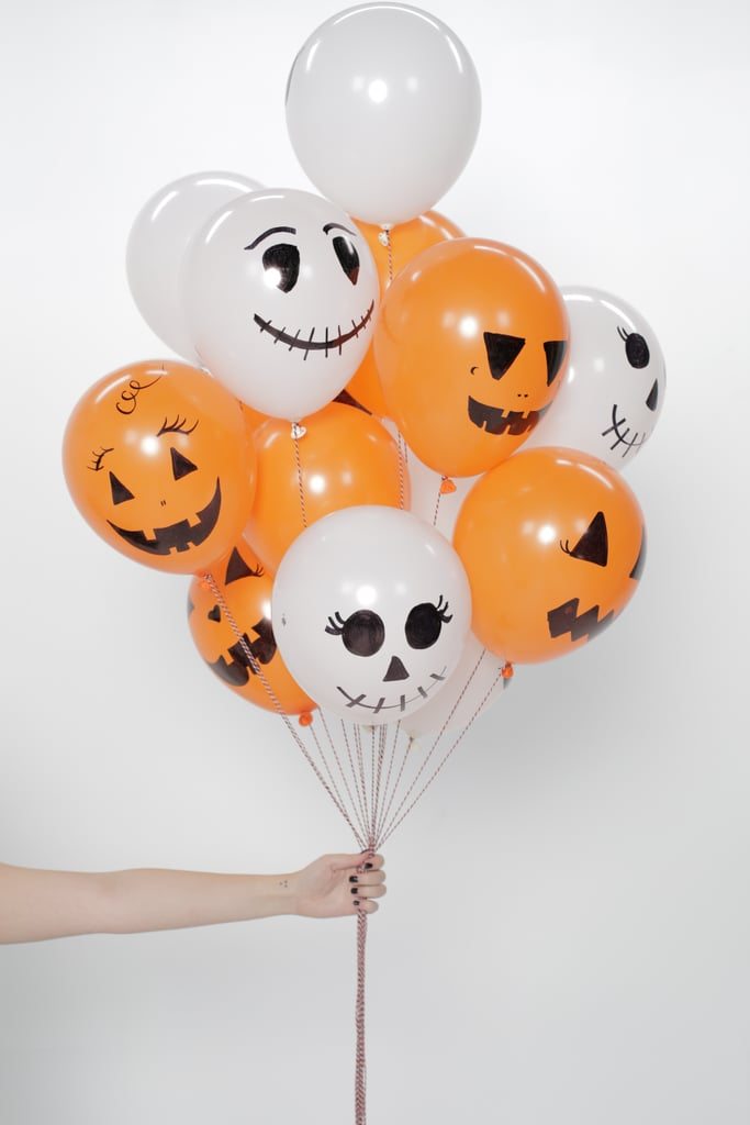 Pumpkin and Skeleton Balloons
