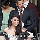 Marc Jacobs admired the bride with a group of guests.