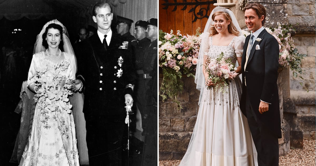 See Photos Of Princess Beatrice S Wedding Dress Popsugar Fashion