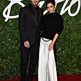 David and Victoria Beckham made for a picture-perfect pair on Monday night at the British Fashion Awards in London.