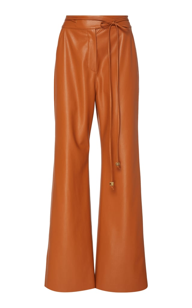 Nanushka Chimo Vegan Leather Wide-Leg Pants