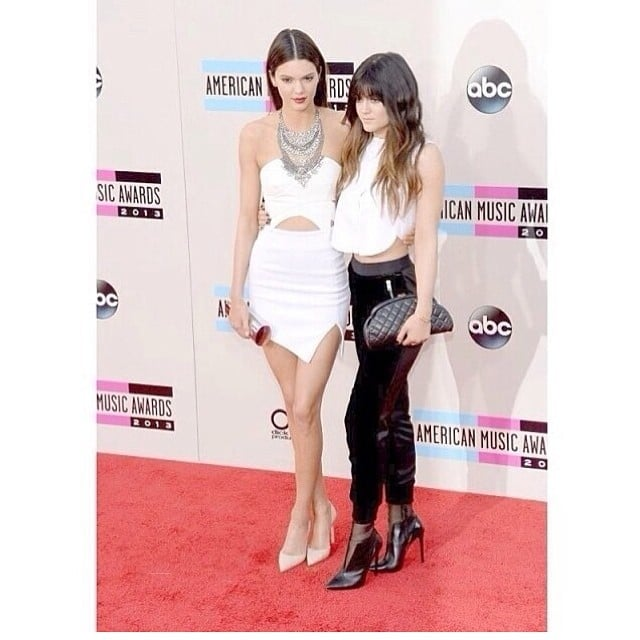 Kylie and Kendall Jenner rocked the red carpet together. Source: Instagram user KhloeKardashian