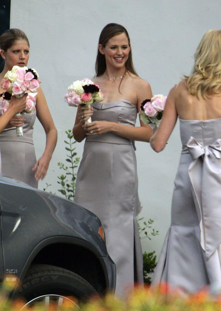 Jennifer Garner was all smiles at a wedding in Montecito, CA in October 2006.