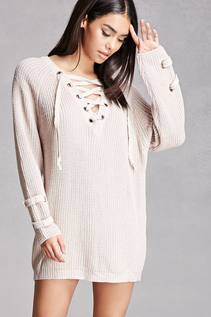 Forever 21 Lace-Up Sweater Dress ($48)