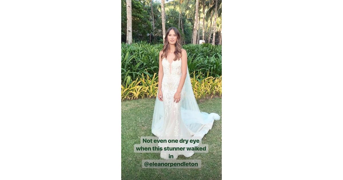 Eleanor Pendleton Wedding Dress Pictures Popsugar Fashion
