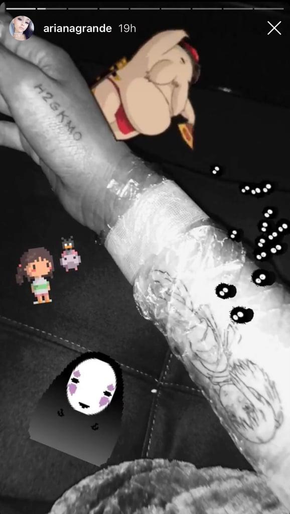 Ariana Grande S Spirited Away Tattoo August 2018 Popsugar Beauty