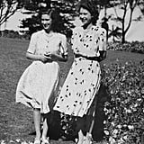 Margaret and Elizabeth enjoyed the Spring breeze during a tour of South Africa with their parents in 1947.