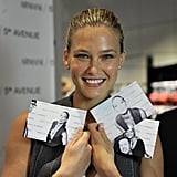 Bar Refaeli showed off her photo booth pictures during a 2010 event at Armani.