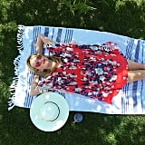"""In this shady snap, Reese said she was taking her Memorial Day celebration """"very seriously."""""""