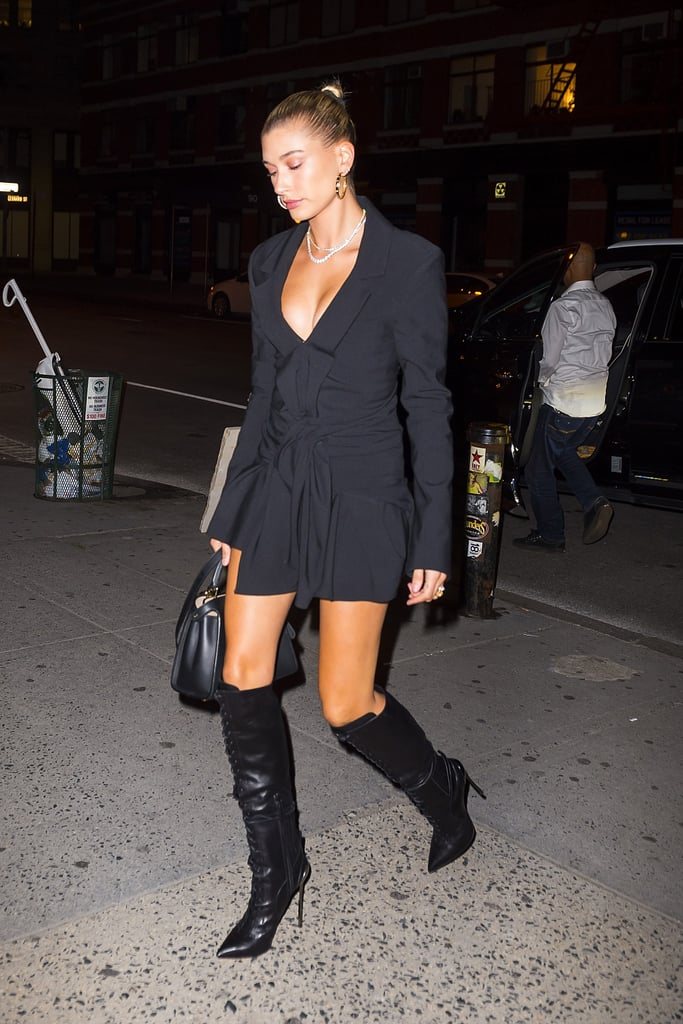 Lace-Up, Knee-High Stiletto Boots