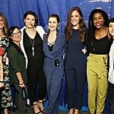 Pictured: Megan Abbott, Sara Shepard, Kendare Blake, Taylor Jenkins Reid, Georgia Clark, Laura Marie Meyers, Tomi Adeyemi, and Camille Perri