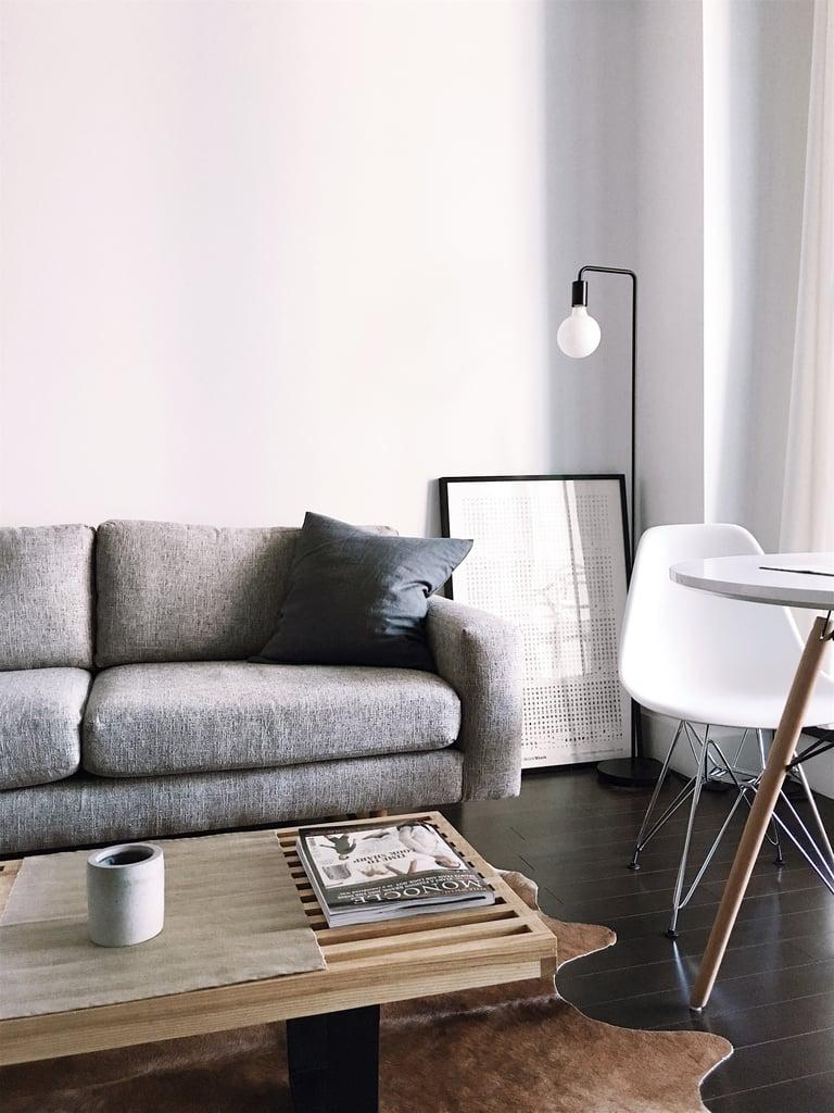 Rearrange your furniture.