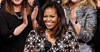 Michelle Obama's Sheer Floral Blouse Is Bringing Us Sheer Joy