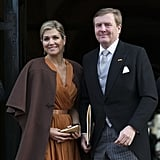 Queen Máxima and King Willem-Alexander at the New Year's reception for the diplomatic corps in Amsterdam.