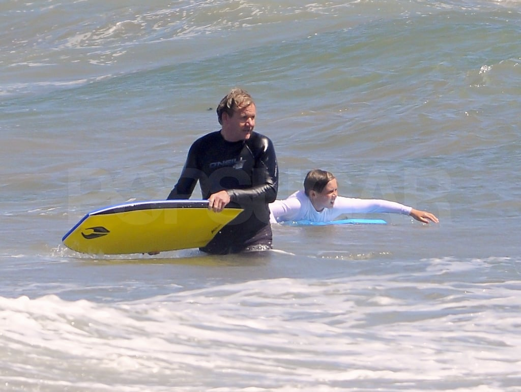 Gordon Ramsay waited for a wave.