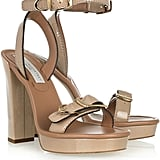 Stella McCartney Buckled Faux Patent-Leather Sandals ($307, originally $875)