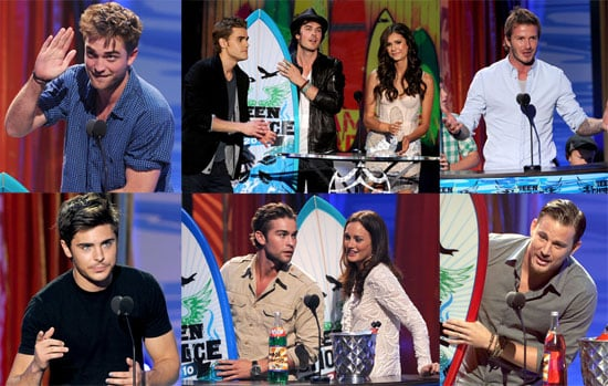 Pictures of Robert Pattinson, David Beckham, Glee Cast, Vampire Diaries at 2010 Teen Choice Awards 2010-08-08 23:25:37
