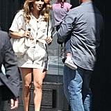 Jennifer Lopez Gets a Visit From Max and Emme on the Set of Her Music Video
