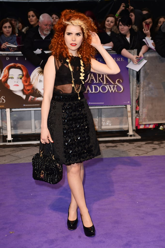 Paloma Faith went for a sheer panelled Dolce & Gabbana dress from their SS12 runway collection.