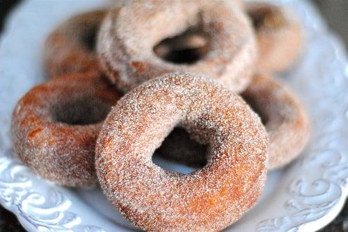 Spiced Sugar Pumpkin Doughnuts