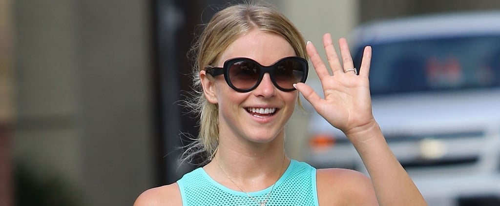 Julianne Hough's Abs Could Cut Glass During Her Smiley LA Outing