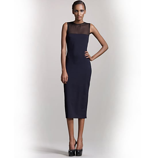 The Row Sheer-Yoke Dress, $690