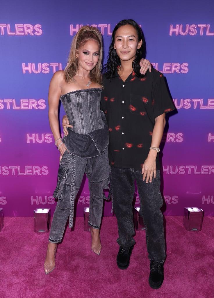 Jennifer Lopez Wears Balmain Denim at the Hustlers Screening