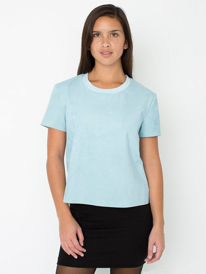 American Apparel Suede Leather T-Shirt