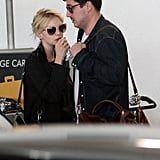 Carey Mulligan and Marcus Mumford touched down at LAX.