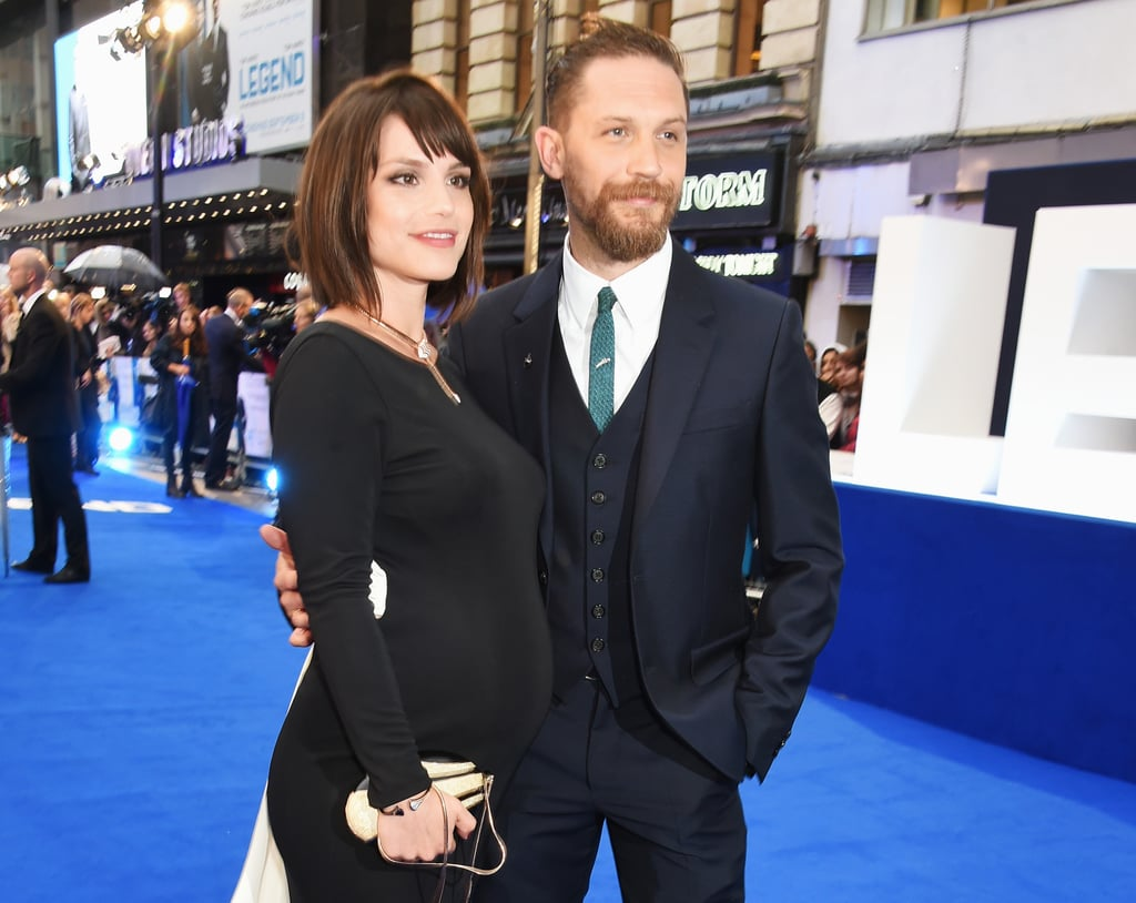 The London premiere of Tom Hardy's new film Legend took place on Thursday night, and Tom's wife, Jonathan Strange and Mr Norrell star Charlotte Riley, was at his side to show her support. Tom looked dapper as always, and they looked more in love than ever as they cuddled up and posed for photos on the red carpet. And while the actors are both notoriously tight-lipped about their relationship (nobody knew they'd gotten married until Tom let it slip in an interview months later), there was no ignoring the fact Charlotte's long black gown showed off a growing baby bump. This will be the actress's first child, while Tom is father to a son, Louis, from a previous relationship. Tom and Charlotte married in 2014, after meeting on the set of Wuthering Heights.