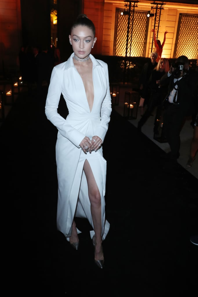 Gigi Hadid Wearing a Brandon Maxwell Dress