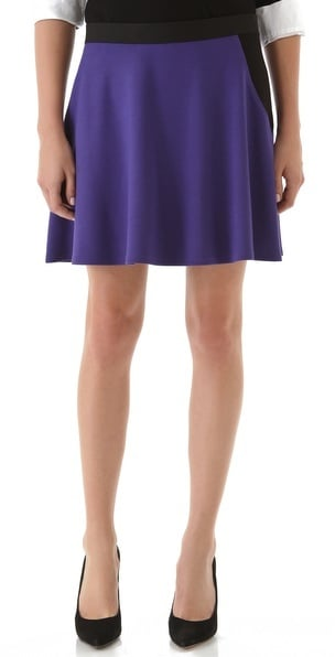 Be on trend with Theory's Folti Classical Skirt ($160) — the rich purple hue is classic, and the circular shape is a Fall 2012 runway favorite.