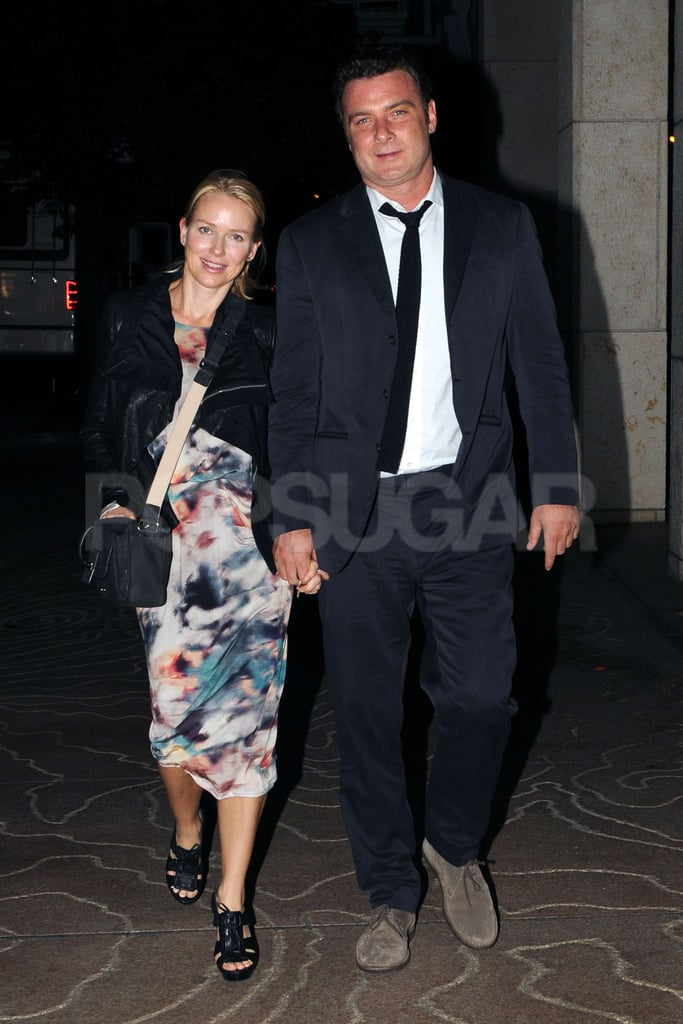 Naomi Watts and Liev Schreiber showed PDA on Naomi's birthday.