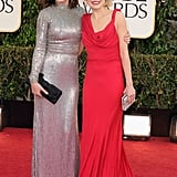 Emily Mortimer posed for pictures with Alison Pill.