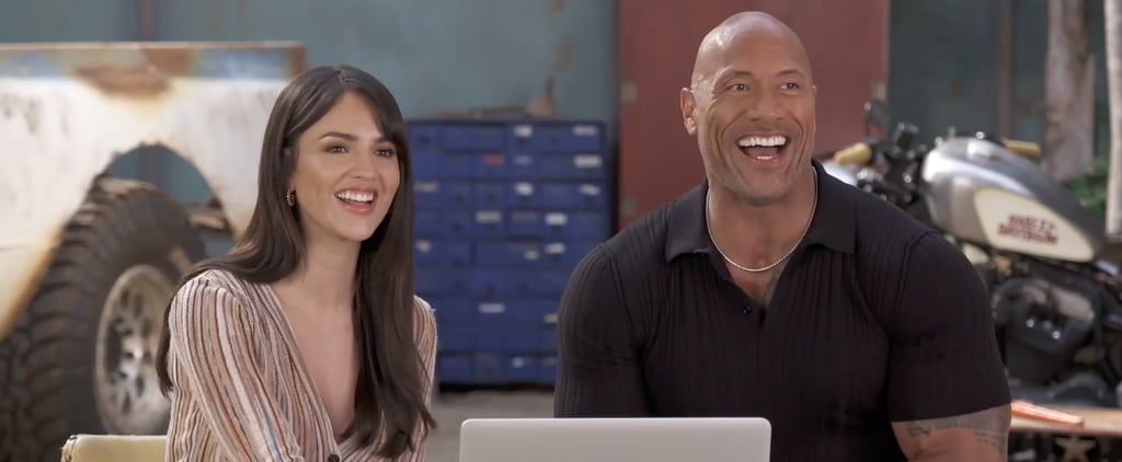 Dwayne Johnson Eiza González Hobbs and Shaw Interview Video