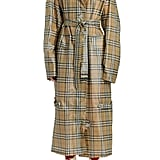 Burberry Check Plastic Trench Coat