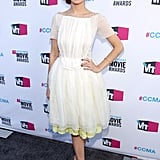 Ahna O'Reilly in a white Honor dress.